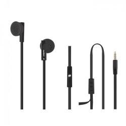 Casti cu microfon Qoltec 50804, cablu plat 1.2m, Black