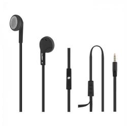 Casti cu microfon Qoltec 50805, cablu plat 1.2m, Black