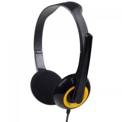 Casti cu microfon Spacer SPK-339, Black-Yellow
