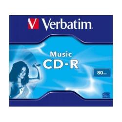 CD-R Verbatim 16x, 80min, 1buc, Jewel case