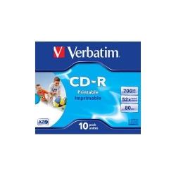 CD-R Verbatim 52X, 700MB, 1buc, Spindle