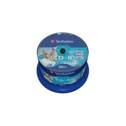 CD-R Verbatim 52X, 700MB, 50buc, Spindle