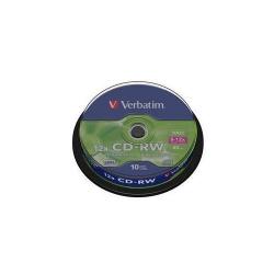 CD-RW Verbatim 12X, 700MB, 10buc, Spindle