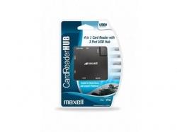 Cititor extern de carduri, USB 2.0, universal, negru + 3 porturi USB HUB UNIV+USB HUB-MAX