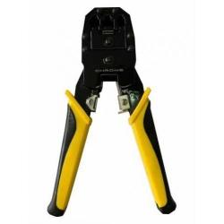 Cleste de sertizare modular RJ11, RJ12, RJ45, Chrome; Cod EAN: 5948636036459