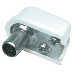 Conector coaxial mama, plastic, colturi rotunjite, cotit; Cod EAN: 5948636000801