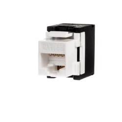Conector Netrack Keystone Jack module 1xRJ45 8p8c UTP, Cat5e, White