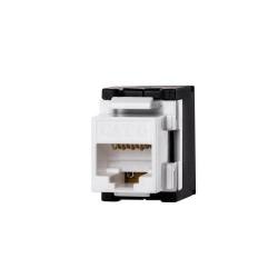 Conector Netrack Keystone Jack module 1xRJ45 8p8c UTP, Cat6, White