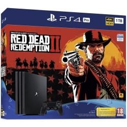 Consola Sony PlayStation 4 Pro, 1TB, Black + Joc Red Dead Redemption 2