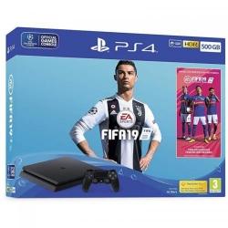 Consola Sony PlayStation 4 Slim 500GB Black + Joc FIFA 19