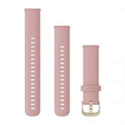 Curea Smartwatch Garmin cu scoatere rapida, 18mm, Dust Rose