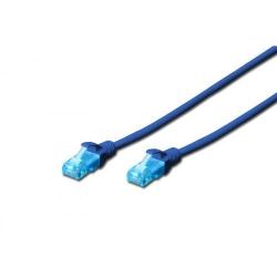 Patchcord Dgitus, U/UTP, CAT5e, 0.5m, Blue