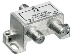 Distribuitor (spliter) CATV de interior, 2 iesiri, 5-1000MHz SAT VT102