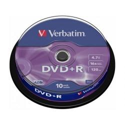 DVD+R Verbatim 16X, 4.7GB, 10buc, Spindle
