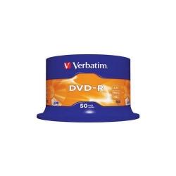 DVD-R Verbatim 16X, 4.7GB, 50 buc, Spindle