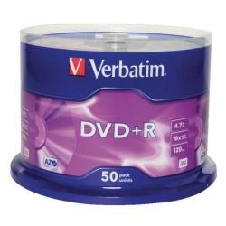 DVD+R Verbatim Matt Silver, 4.7GB, 16X, 50buc, Spindle
