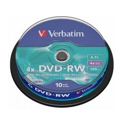 DVD-RW Verbatim 4X, 4.7GB, 10buc, Spindle