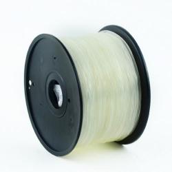 Filament Gembird ABS, 1.75mm, 1kg, Transparent