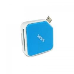 FLASH MEM. READER USB 2.0 OTG SSK SCRM068-BL