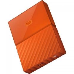 Hard disk portabil Western Digital My Passport New 1TB, Orange, 2.5inch