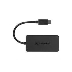 Hub USB-C Transcend HUB2C, 4x USB 3.0, Black