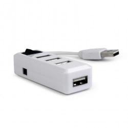 Hub USB Gembird UHB-U2P4-11, 4x USB 2.0, Alb
