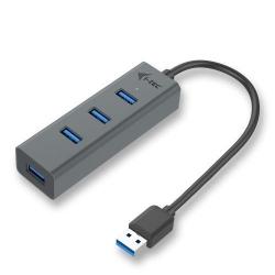 Hub USB i-tec U3HUBMETAL403, 4x USB 3.2 gen 1, Space Grey