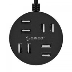 Hub USB Orico H8013-U2-15, 8x USB 2.0, Black