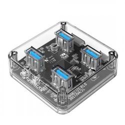 Hub USB Orico MH4U-U3-10, 4x USB 3.0, Transparent