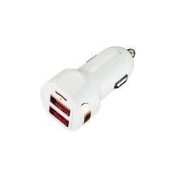 Incarcator Auto Canyon CNE-CCA04W, 2x USB, 2.4A, White