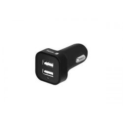 Incarcator auto Natec Genesis EM, 2x USB, Black