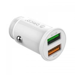 Incarcator auto Orico UPZ-2U, 2x USB, 3A, White