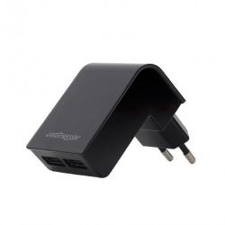 Incarcator retea Energenie by Gembird EG-U2C2A-02, 2x USB, 2.1A, Black