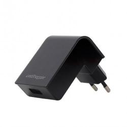 Incarcator retea Energenie by Gembird EG-UC2A-02, 1x USB, 2.1A, Black