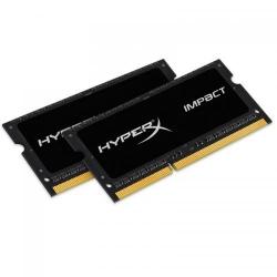 Kit Memorie SO-DIMM Kingston HyperX Impact Black 8GB DDR3-1600Mhz, CL9