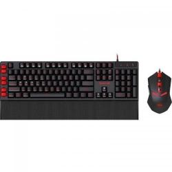 Kit Redragon - Tastatura Yaksa, RGB, USB, Black-Red + Mouse Nemeanlion, USB, Black-Red