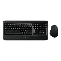 Kit Wireless Logitech MX900 - Tastatura, White LED, USB, Black + Mouse laser, USB, Black