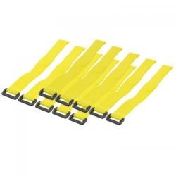 Legaturi de cablu tip velcro Techly, 10buc, Yellow