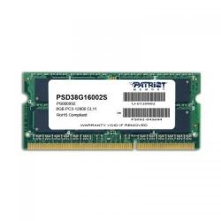 Memorie SO-DIMM Patriot Signature 8GB, DDR3-1600MHz, CL11
