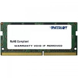 Memorie SODIMM Patriot 4GB, DDR4-2400MHz, CL17, PSD44G240082S