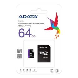 Memory Card A-Data Premier microSDXC UHS-I 64GB + Adaptor SDHC