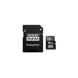 Memory Card Goodram MicroSDHC, 16GB, Clasa 10 + Adaptor SD