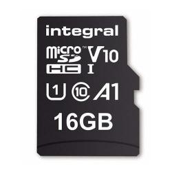 Memory Card Integral MICROSDHC 16GB, CLASA 10 + Adaptor SD