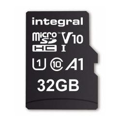Memory Card Integral MICROSDHC 32GB, CLASA 10 + Adaptor SD