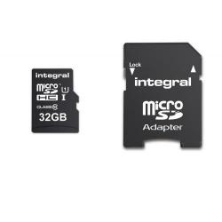 Memory Card Integral Ultima Pro MicroSDHC, 32GB, Clasa 10 + Adaptor Sd