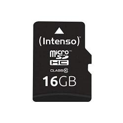 Memory Card Intenso MicroSDHC, 16GB, Clasa 10 + Adaptor SD