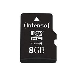 Memory Card Intenso MicroSDHC, 8GB, Clasa 10 + Adaptor SD