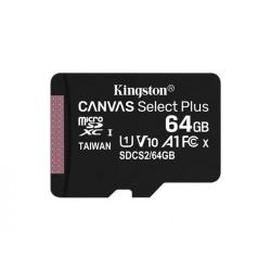 Memory Card Kingston Canvas Select Plus microSDXC 64GB, Clasa 10