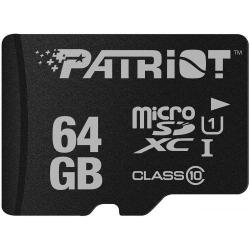 Memory Card Patriot Card LX Series microSDHC 64GB, Clasa10