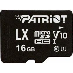 Memory Card Patriot LX Series Micro SDHC, 16GB, Clasa 10